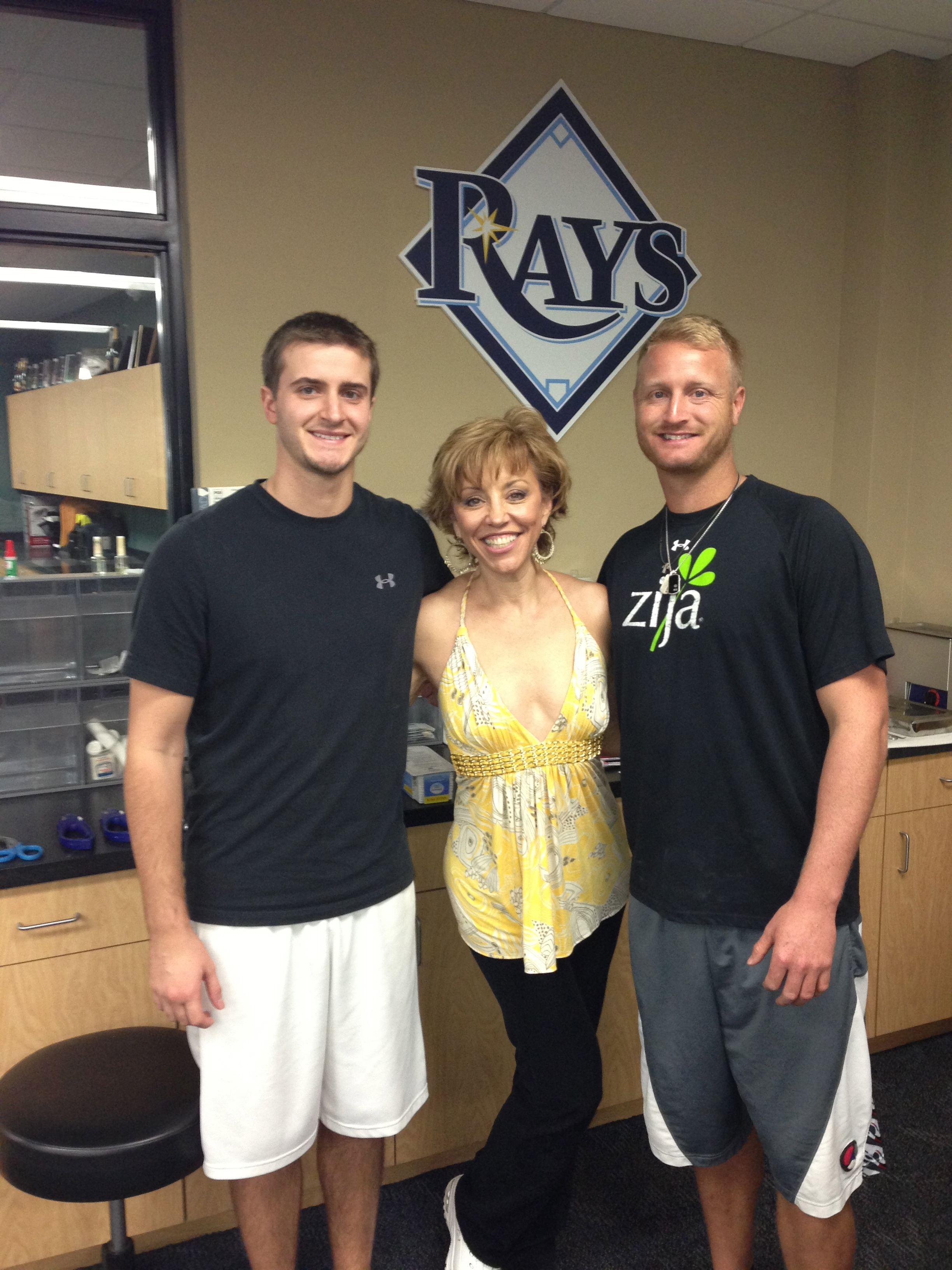 Hanging in the Tampa Bay Rays baseball training center working on SpinGym fitness techniques