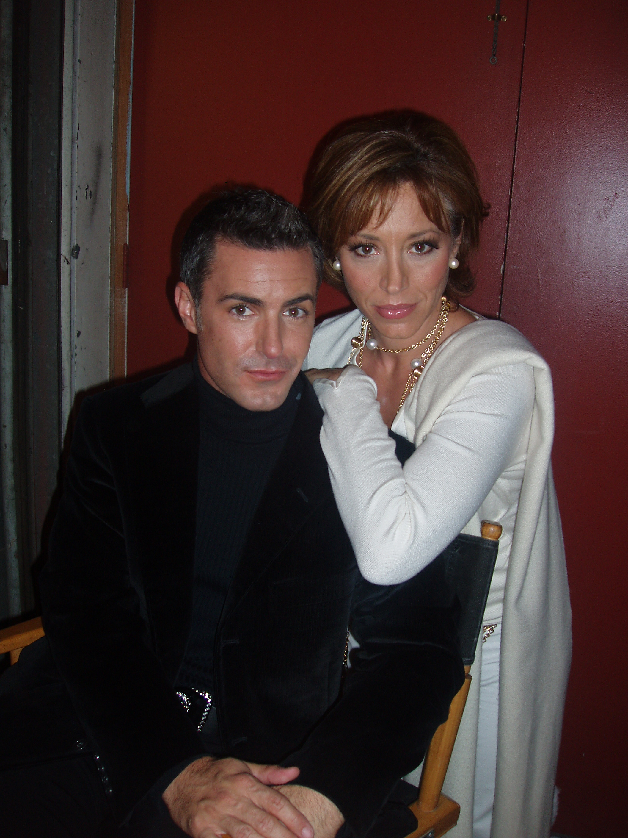 My best diva pout on set with c-star Tony Tripoli